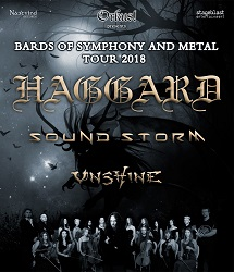 Haggard + Sound Storm + Unshine in D/Ö/S - BARDS OF SYMPHONY AND METAL - Tour 2018